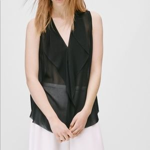 Aritzia | Talula Babaton Ainsley 100% Silk Blouse
